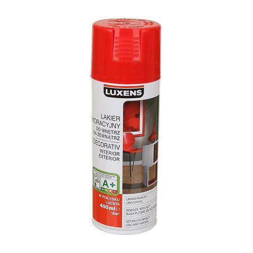 Spray lucios Luxens rosu RAL 3020 400 ml