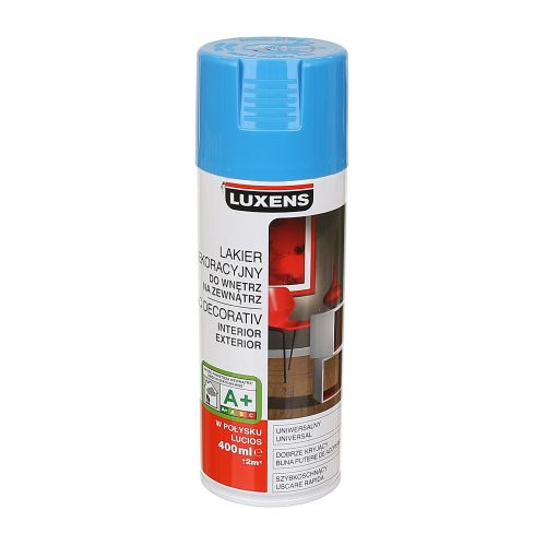 Spray lucios Luxens albastru  RAL5015 400 ml