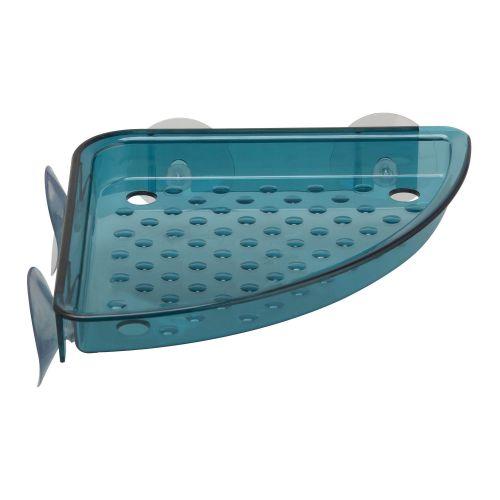 Etajera fixa plastic 15 x 18 x 2.5 cm 1 nivel, cu ventuze pentru colt