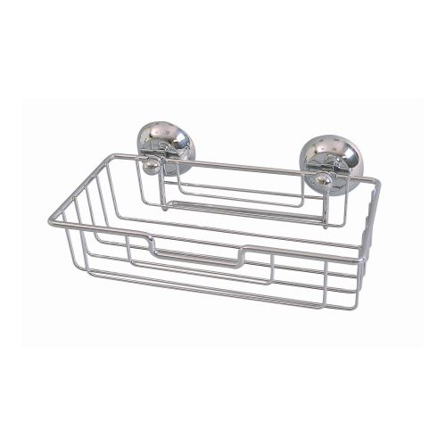 Etajera fixa cromata 24 x 12 x 5.5 cm 1 nivel, cu ventuze Shower Caddy