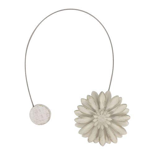 magnet floare ivoire/auriu