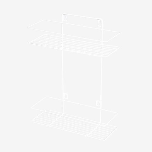 Etajera fixa alba 26 x 10.4 x 34.5 cm 2 nivele