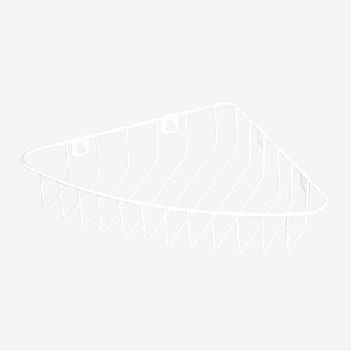 Etajera fixa alba 32.5 x 22 x 5.5 cm 1 nivel, pentru colt Shower Caddy