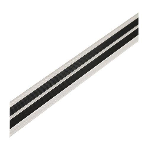 Profil treapta 40x25 mm / 0.9 m aluminiu antiderapant argintiu