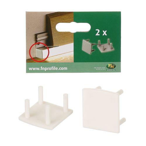 Terminatii plinta PVC LED 16 x 17 x 100 mm gri satin