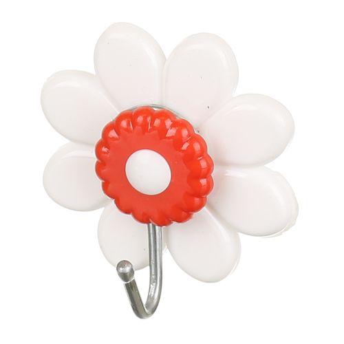 """Carlig adeziv PVC """"Floare"""" verde 4 cm"""