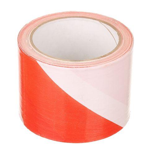 Banda avertizare alb-rosu 80 mm x 100 m Hardy