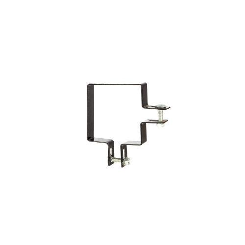 Clema colt 7 x 7 cm negru RAL 9005