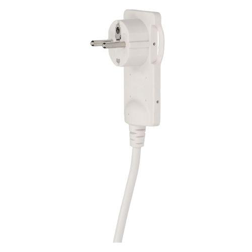 Stecher plat 16 A alb cu cablu inclus