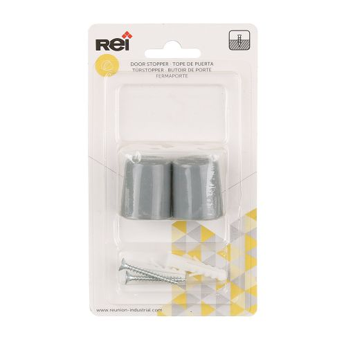Set 2 opritoare usa ABS gri 28 x 34 mm