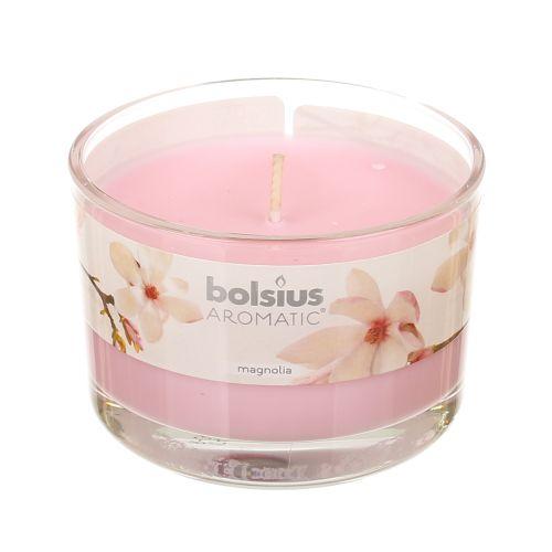 Lumanare in pahar, parfum magnolie, 6.3 / 9 cm