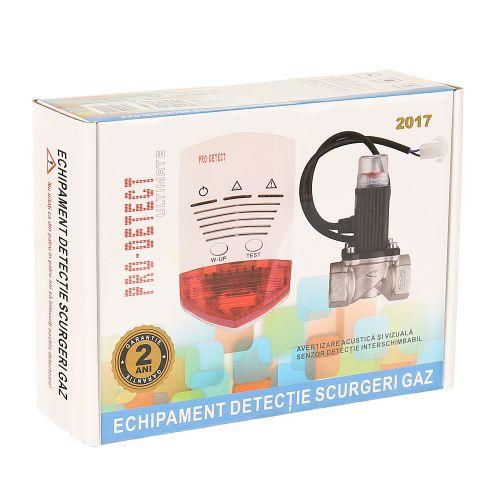"Kit detector gaz cu electrovana 3/4"""