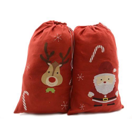 Sac pentru cadouri Santa/Ren 50 x 75 cm
