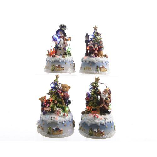 Decoratiune cu LED Christmas mix 10.5 x 9 x 15.5 cm