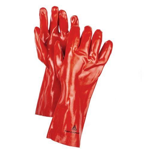 Manusi manipulare produse chimice, din PVC Delta M10