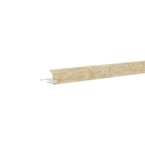 Profil colt exterior PVC 9 mm x 2.5 m EM90 marmorat