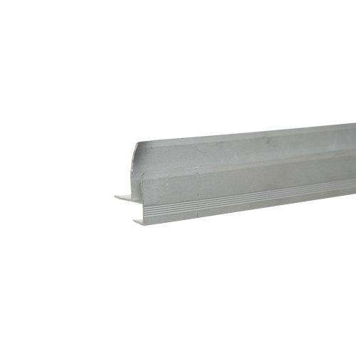 Profil aluminiu treapta 9 mm x 2.5 m argintiu mat