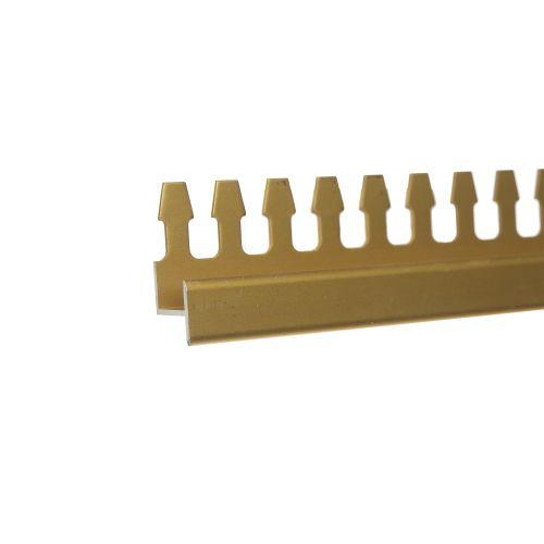 Profil flexibil podea 13 mm x 2.5 m auriu mat