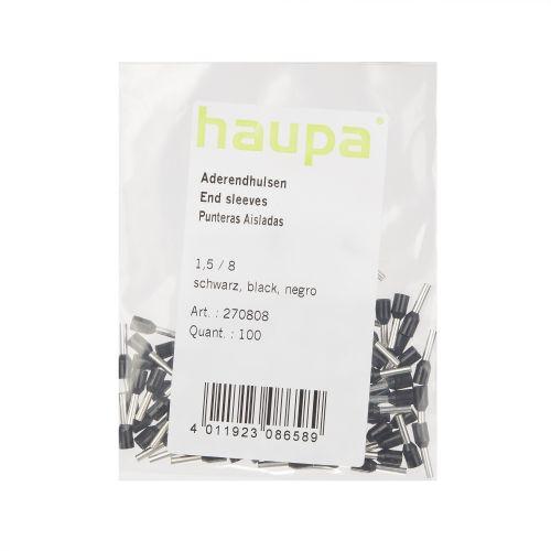 Set 100 buc pin 1.5/8 negru Haupa