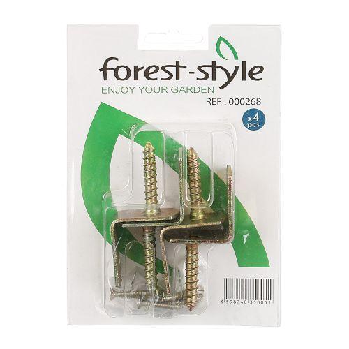 Echere cu surub Forest Style (set 4 buc)