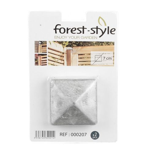 Piramide galvanizate 7 x 7 cm Forest Style (set 2 buc)