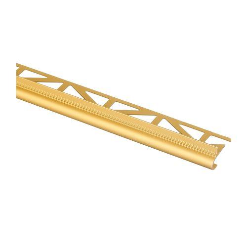 Profil aluminiu treapta semirotunda 23x10 mm / 2.5 m auriu