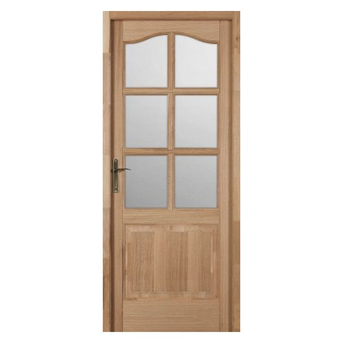 "Usa de interior stejar 88 cm cu geam ""Vera Maria"", deschidere dreapta"