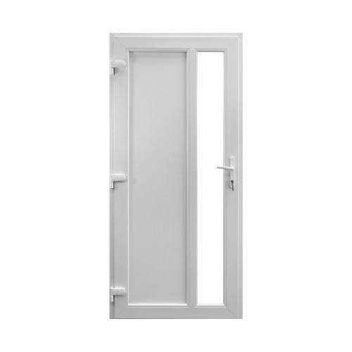 Usa PVC intrare Rhodos 96 x 205 cm alba, deschidere dreapta