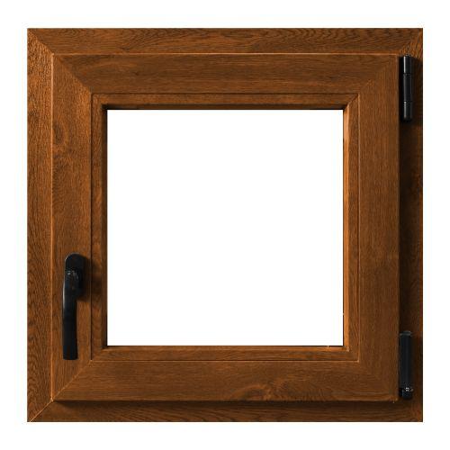 Fereastra PVC 5 camere 56 x 56 cm stejar, deschidere dreapta
