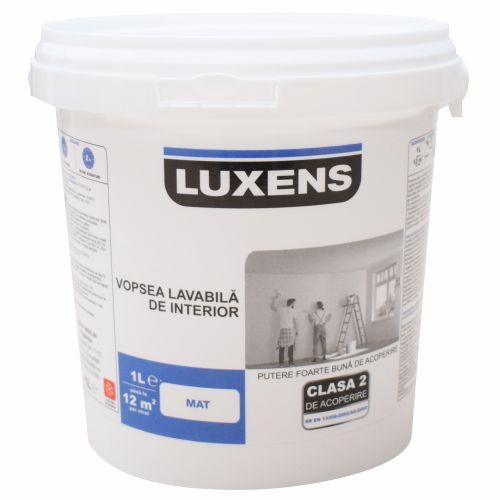 Vopsea lavabila alba de interior 1 l, Luxens