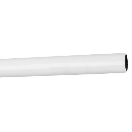 Bara metal alb, 240 cm x 16 mm