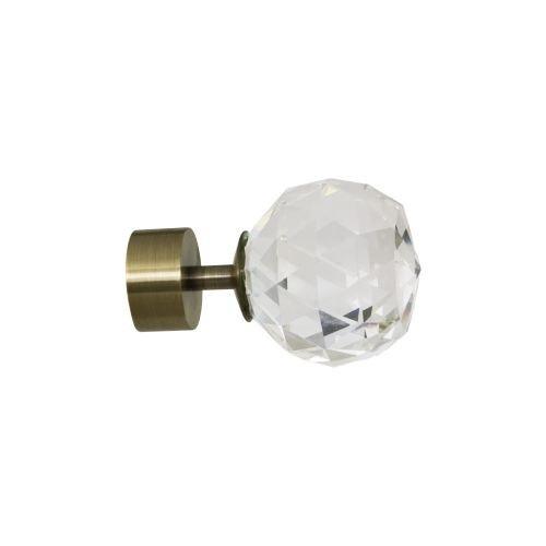 """Capat Ø25 mm auriu antichizat """"Cristal"""""""