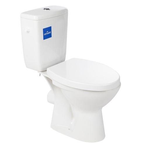 Set vas wc stativ Granit cu rezervor si capac, evacuare orizontala