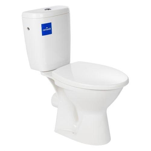 Set vas wc stativ Vento cu rezervor ceramic si capac polipropilena, evacuare orizontala