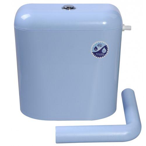 Rezervor wc plastic semi inaltime3/6L Niki bleu