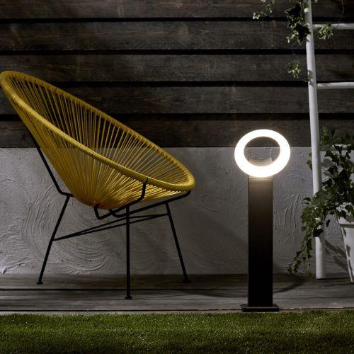 Borna argintie cu LED integrat, 1000 lm, IP 54, diametru 60 cm, Inspire Quito
