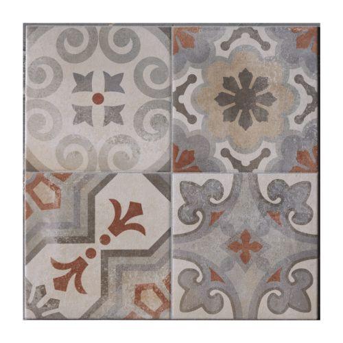 Gresie interior 34 x 34 cm Cementina Rosso