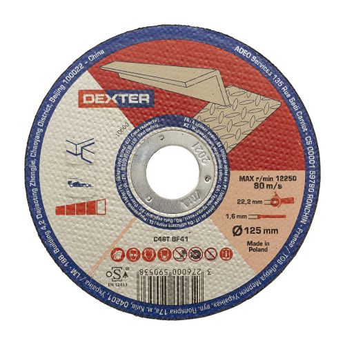 Disc taiere pentru aluminiu 125 x 2.5 mm Dexter