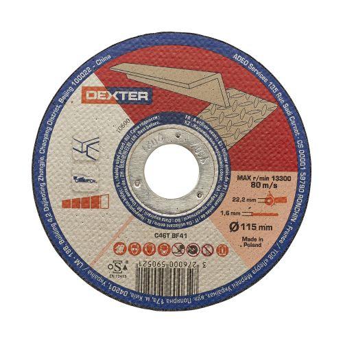Disc taiere pentru aluminiu 115 x 2.5 mm Dexter