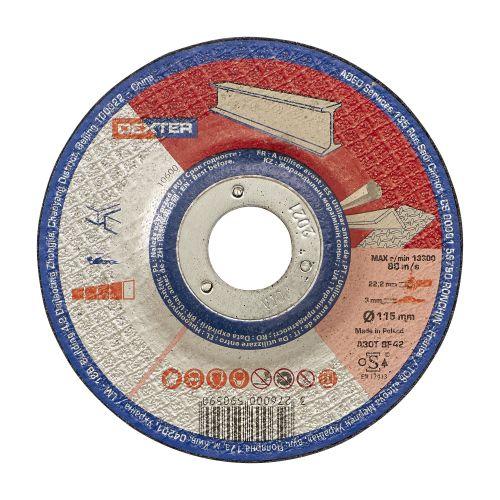 Disc pentru polizare metal/inox 115 x 3 mm Dexter