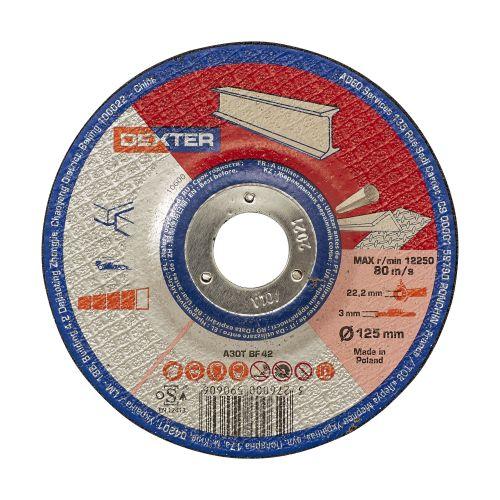 Disc pentru polizare metal/inox 125 x 3 mm Dexter