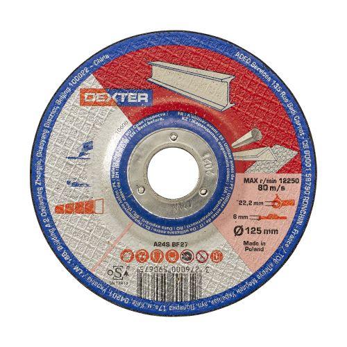 Disc pentru polizare metal/inox 125 x 6 mm Dexter