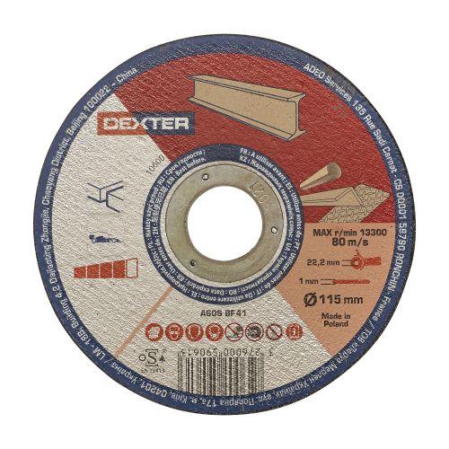 Disc pentru taiere metal/inox 115 x 1 mm Dexter