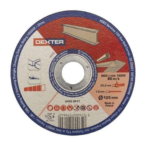 Disc pentru taiere metal/inox 125 x 1.6 mm Dexter