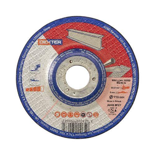 Disc polizare pentru metal/inox 115 x 6 mm Dexter