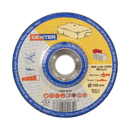 Disc pentru taiere piatra 125 x 3 mm Dexter