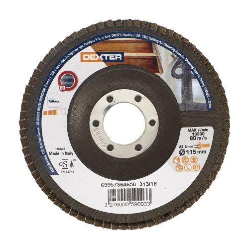 Disc evantai multimaterial 115 mm P80 Dexter