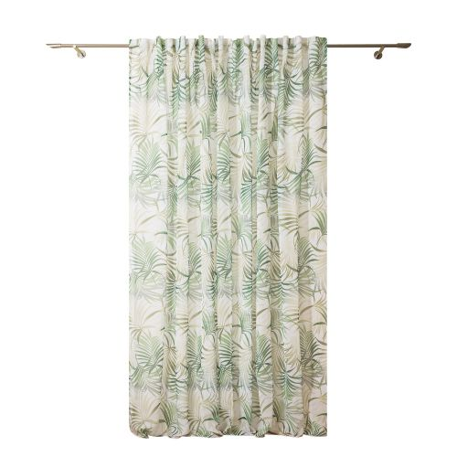 Perdea verde, model frunze, 300 x 260 cm, Palmas