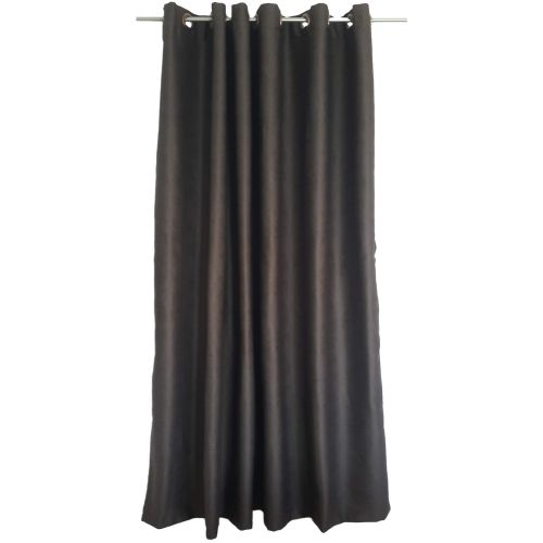 Draperie blackout maro, model frunze, 200 x 245 cm