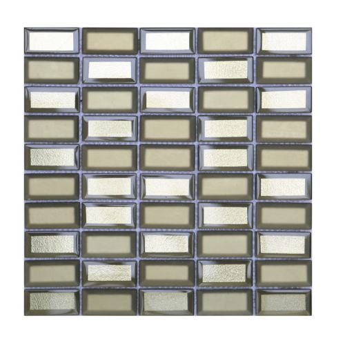 Mozaic 31 x 32 cm sticla Metro auriu
